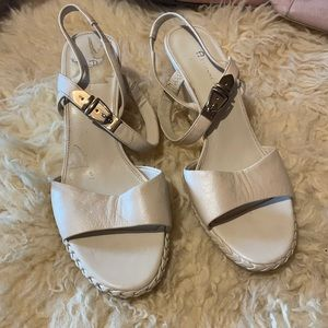 Etienne Aigner leather wedges